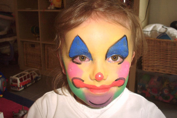 Maquillage petit clown